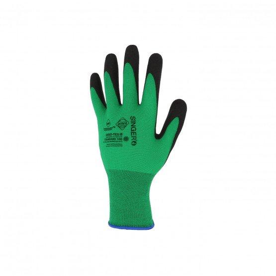 VERT - Gant de manutention professionnel de travail polyamide déperlant EN 420 Conforme aux exigences générales en matière de ga