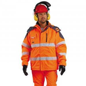 ORANGE - Veste haute visibilité professionnelle de travail homme chantier manutention artisan logistique