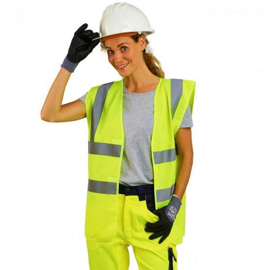 JAUNE - Gilet Haute visibilité professionnelle de travail mixte transport crèche artisan chantier