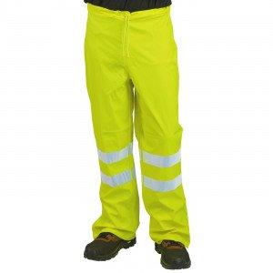 JAUNE - Couvre pantalon haute visibilité professionnelle de travail homme manutention chantier transport artisan