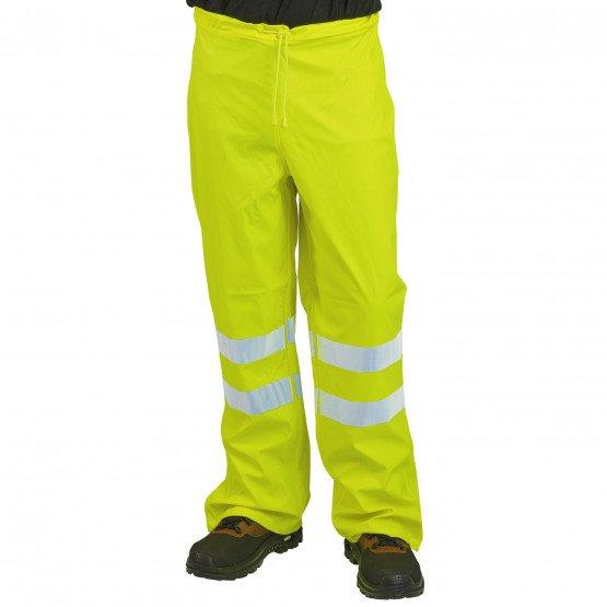 JAUNE - Couvre pantalon haute visibilité professionnelle de travail homme manutention artisan logistique chantier