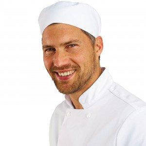 BLANC - Calot professionnelle de travail hôtel cuisine restauration serveur