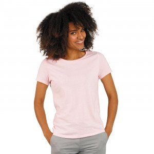 ROSE - Tee-shirt professionnelle de travail à manches courtes 100% coton biologique, et 90% coton / 10% viscose pour les coloris