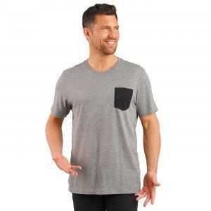 GRIS/NOIR - Tee-shirt professionnelle de travail à manches courtes homme auxiliaire de vie infirmier aide a domicile médical