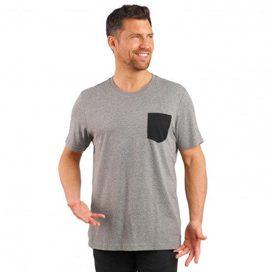 GRIS/NOIR - Tee-shirt professionnelle de travail à manches courtes homme infirmier auxiliaire de vie médical aide a domicile
