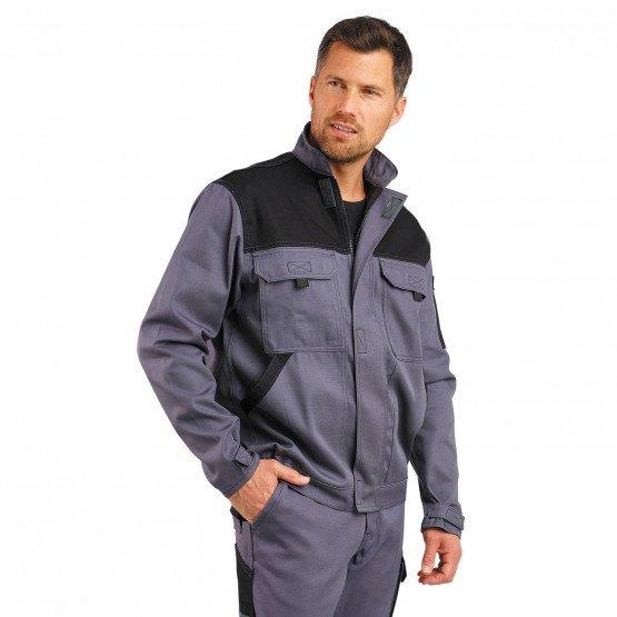 GRIS/NOIR - Blouson professionnelle de travail homme logistique artisan manutention chantier