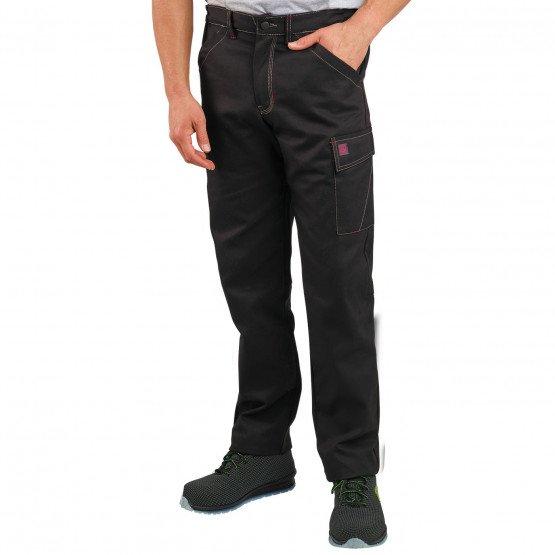 NOIR - Pantalon de travail professionnelle homme manutention chantier transport artisan