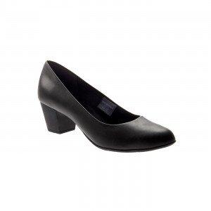 NOIR - Chaussure professionnelle de travail noire en cuir ISO EN 20347 femme cuisine restauration serveur restaurant