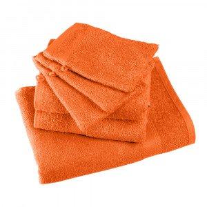 ORANGE - Serviette de toilette professionnelle hébergement foyer blanche 100% Coton esthéticienne infirmier coiffeur médical