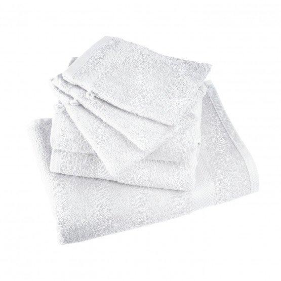 BLANC - Gant de toilette professionnel de travail blanche 100% Coton coiffeur infirmier esthéticienne médical