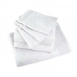 TERRA COTTA - Serviette de toilette professionnelle hébergement foyer blanche 100% Coton coiffeur infirmier esthéticienne médica