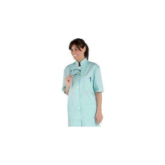 Tunique professionnelle travail manches courtes mixte - PROMO auxiliaire vie medical aide domicile infirmier - VERT