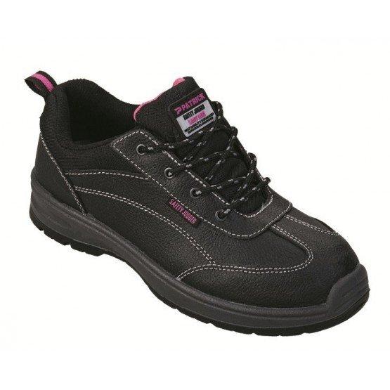 Chaussure securite professionnelle travail noire cuir ISO EN 20345 S3 femme artisan menage chantier entretien - NOIR
