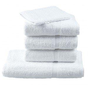 Gant toilette professionnel travail blanc 100% Coton restauration coiffeur creche cuisine - BLANC