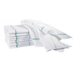 Essuie-verre professionnel hebergement foyer blanc 100% Coton hotel restaurant cuisine restauration - BLANC