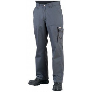 Pantalon travail professionnel homme - PROMO manutention artisan transport chantier - GRIS/NOIR