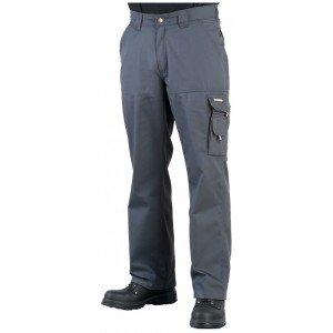 Pantalon travail professionnel homme - PROMO logistique chantier manutention artisan - GRIS/NOIR