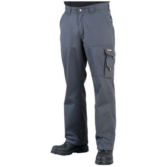 GRIS/NOIR - Pantalon de travail professionnelle homme - PROMO transport chantier logistique artisan