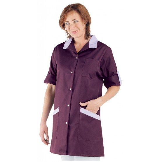 Blouse professionnelle travail blanche manches transformables femme - PROMO auxiliaire vie infirmier aide domicile medical - PRU