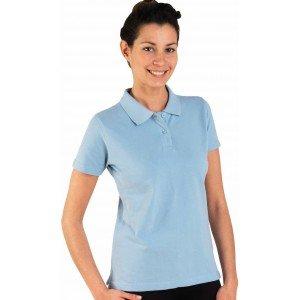 Polo professionnel travail 100% coton femme - PROMO aide domicile medical auxiliaire vie infirmier - CIEL