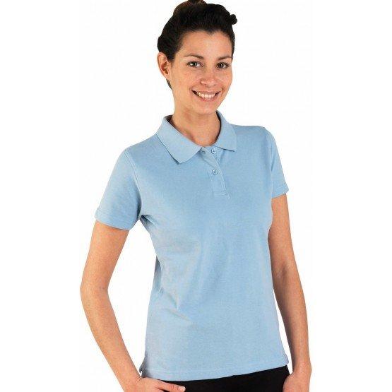 Polo professionnel travail 100% coton femme - PROMO auxiliaire vie medical aide domicile infirmier - CIEL