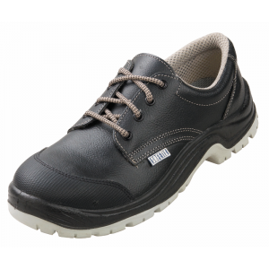 Chaussure securite professionnelle travail noire cuir ISO EN 20345 S3 mixte entretien chantier foyer eleve - NOIR