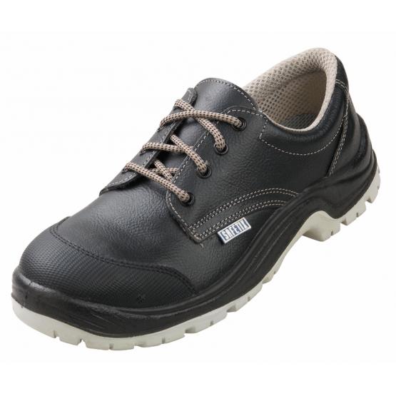 Chaussure securite S3 professionnelle travail noire cuir ISO EN 20345 S3 mixte menage artisan entretien chantier - NOIR