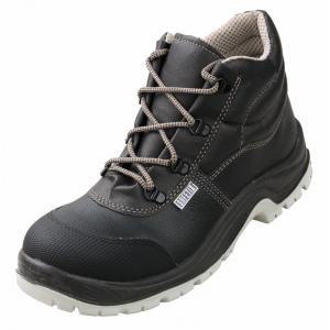 Chaussure haute securite professionnelle travail noire cuir ISO EN 20345 S3 mixte chantier menage artisan entretien - NOIR