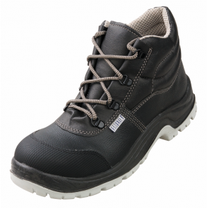 Chaussure haute securite S3 professionnelle travail noire cuir ISO EN 20345 S3 mixte artisan menage chantier entretien - NOIR
