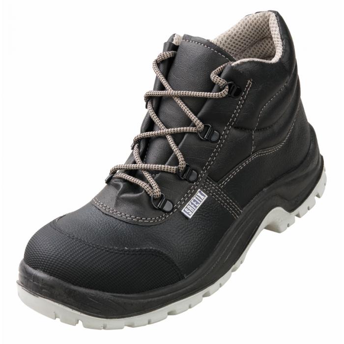 alba chaussure haute de s curit en cuir grain hydrofuge pour femme ou homme avec embout. Black Bedroom Furniture Sets. Home Design Ideas