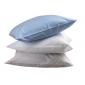 Taie 'oreiller professionnelle hebergement foyer blanche Coton/Polyester cuisine restauration hotel restaurant - BLANC