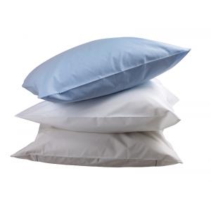 Taie 'oreiller professionnelle hebergement foyer blanche Coton/Polyester cuisine internat restauration foyer - PERLE,BLANC,CIEL