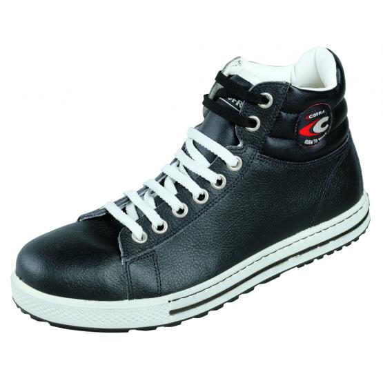 Chaussure securite professionnelle travail noire cuir ISO EN 20345 S3 homme aide domicile entretien restaurant creche - NOIR