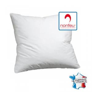 Oreiller professionnel hebergement foyer blanc Polyester non feu M1 restauration serveur hotel restaurant - BLANC