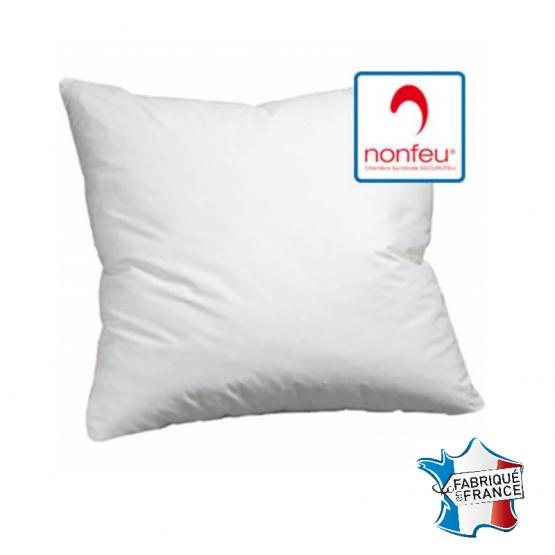 Oreiller professionnel hebergement foyer blanc Polyester non feu M1 restaurant cuisine restauration serveur - BLANC