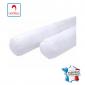 Traversin professionnel hebergement foyer blanc Polyester non feu M1 restaurant cuisine restauration serveur - BLANC