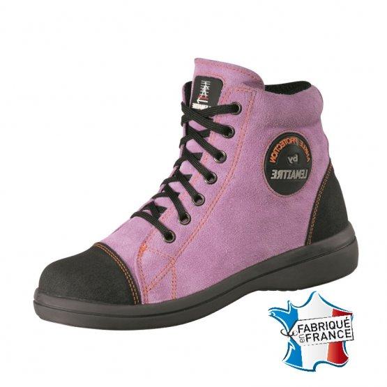 Chaussure securite S2 professionnelle travail noire ISO EN 20345 S2 femme manutention artisan logistique chantier - LILAS