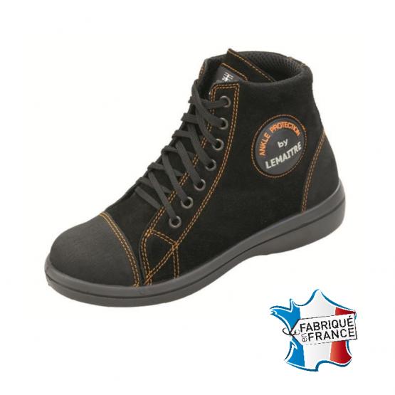 Chaussure securite S2 professionnelle travail noire ISO EN 20345 S2 femme manutention artisan logistique chantier - NOIR
