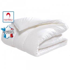 Couette 1 personne professionnelle hebergement foyer blanche Polyester non feu M1 restauration serveur hotel cuisine - BLANC
