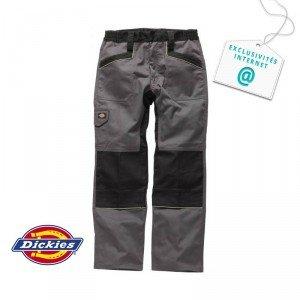 Pantalon travail professionnel homme - PROMO chantier transport creche bac pro - GRIS/NOIR