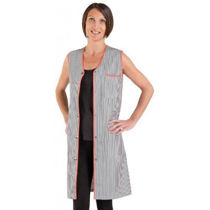 blouse professionnelle de travail sans manches femme promo foyer entretien cole menage. Black Bedroom Furniture Sets. Home Design Ideas