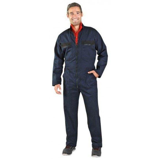 Combinaison travail professionnelle homme - PROMO menage artisan entretien chantier - MARINE/NOIR
