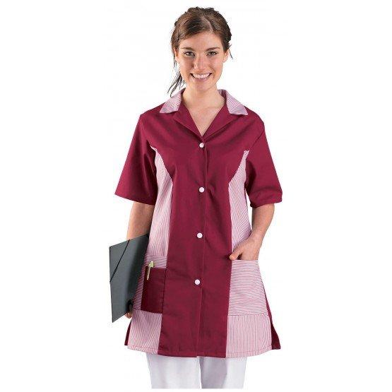 blouse professionnelle de travail manches courtes femme promo aide a domicile menage. Black Bedroom Furniture Sets. Home Design Ideas