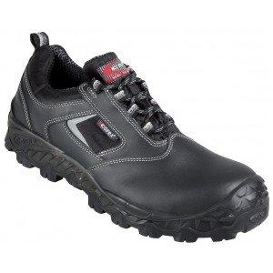 Chaussure securite professionnelle travail noire cuir ISO EN 20345 S3 homme chantier entretien artisan menage - NOIR