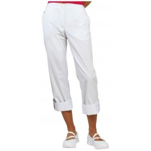 Pantalon professionnel travail femme - PROMO entretien traiteur estheticienne eleve - BLANC