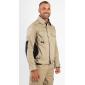 BEIGE/NOIR - Blouson professionnelle de travail homme manutention artisan transport chantier