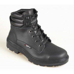 Brodequin securite professionnel travail noir cuir ISO EN 20345 S3 homme - PROMO logistique artisan manutention chantier - NOIR