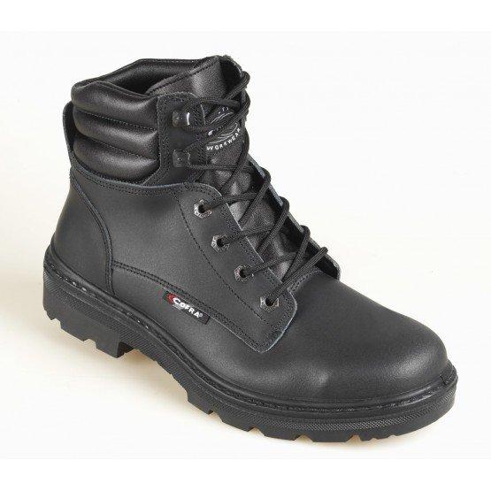 Brodequin securite S3 professionnel travail noir cuir ISO EN 20345 S3 homme - PROMO logistique chantier transport artisan - NOIR
