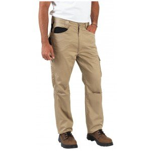 Pantalon travail professionnel homme manutention artisan transport chantier - BEIGE/NOIR