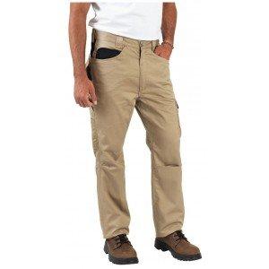 Pantalon travail professionnel homme logistique artisan transport chantier - BEIGE/NOIR